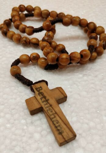 Hand Made Olive Wood Round Beads Rosary **Plenty Info In Description**