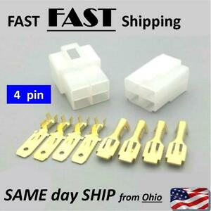 Male Female Wire Connector Ends 4 Pin 4 Wire Electrical Plug Wiring Auto Ebay