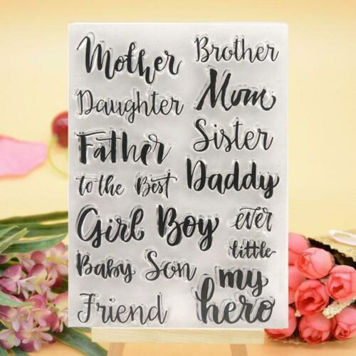 Happy Letter Transparent Silicone Clear Stamp DIY Scrapbook Embossing Card Words