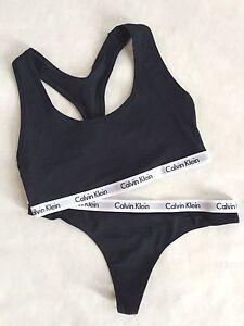 880005ae28 Calvin Klein NAVY Blue Bralette Bra and Thong 2 pc Underwear Set ...