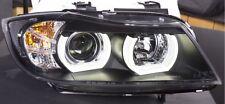 BMW 3 SERIES E90 E91 05-08 BLACK LED 3D DRL DAYLIGHT RUNNING LIGHTS HEADLIGHTS