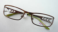 Kaos Markenfassung Damenbrille Metall Akzentbügel kupferbraun occhiali GR:M TOP