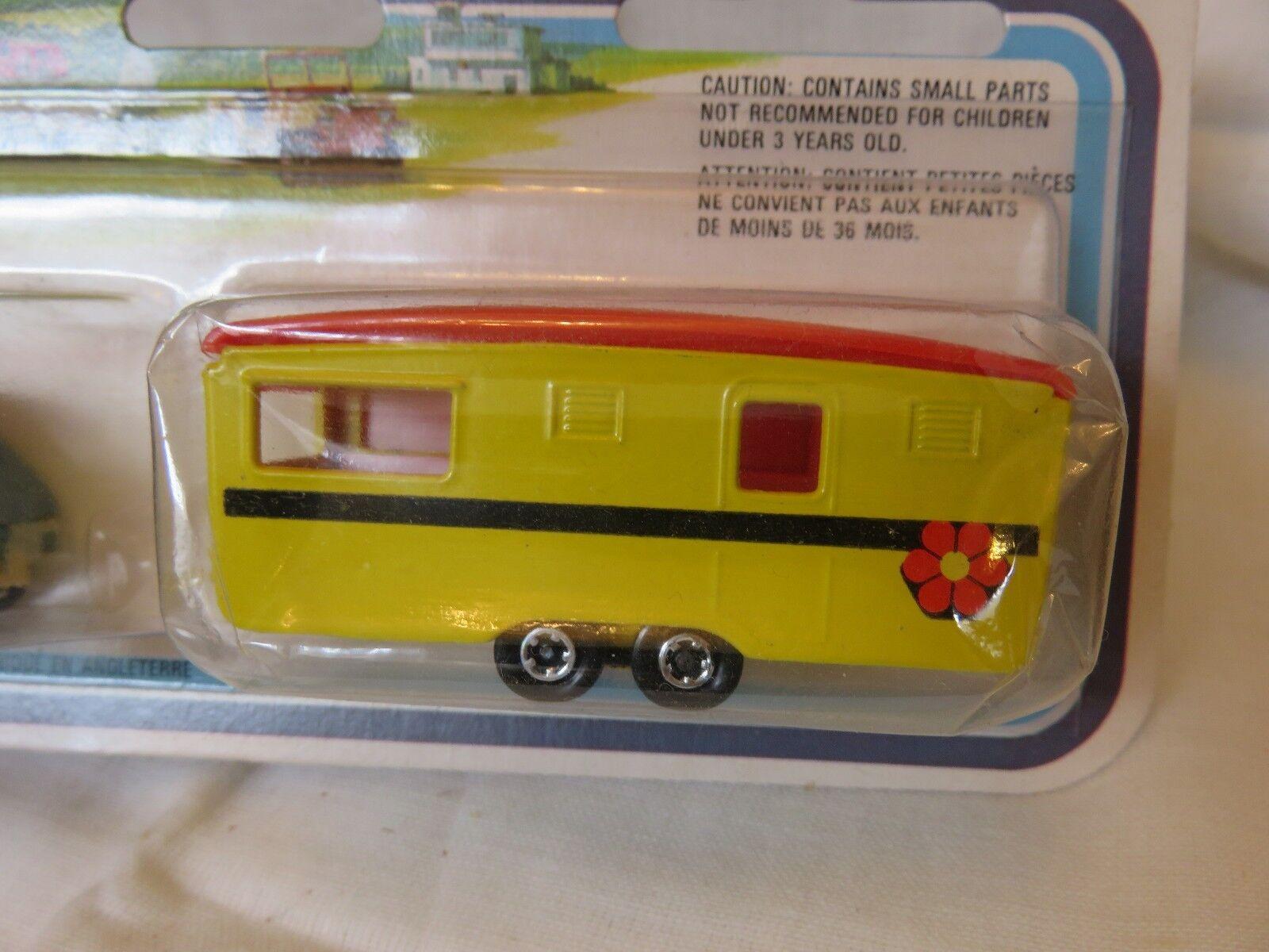 1978 Matchbox Matchbox Matchbox SuperFast 900 bluee Renault Yellow Caravan TP-4 England Die-Cast 9298a8