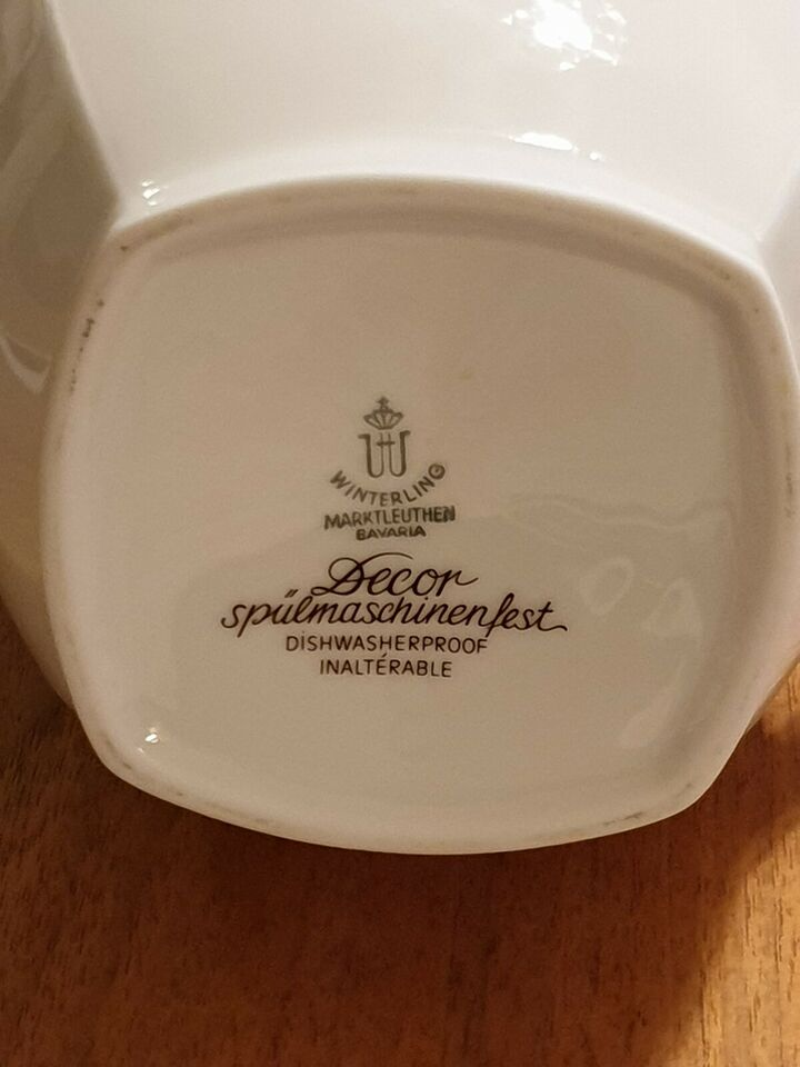 Porcelæn, Chokoladekande / thekande / kaffekande, Safir