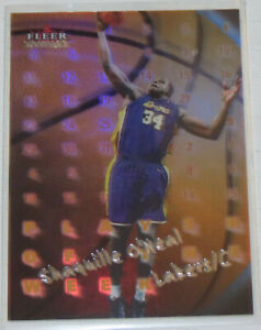 2000-01-Shaquille-O-039-Neal-Lakers-Fleer-Mystique-Player-of-the-Week-Card-5PW-NM