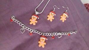 CHRISTMAS GINGERBREAD MAN NECKLACE EARRINGS BRACELET CHRISTMAS STOCKING FILLE - Dewsbury, West Yorkshire, United Kingdom - CHRISTMAS GINGERBREAD MAN NECKLACE EARRINGS BRACELET CHRISTMAS STOCKING FILLE - Dewsbury, West Yorkshire, United Kingdom