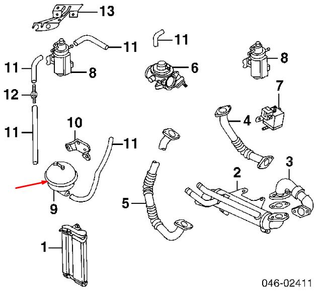 Pre Owned Audis: Audi A6 C5 1.9tdi Vacuum Reservoir Damper 038129807 For