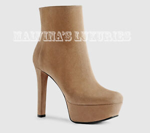 b84c80011fb6  995 GUCCI BOOTS LEILA ANKLE BEIGE SUEDE LEATHER PLATFORM HIGH HEEL ...
