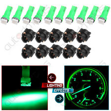 10x T5 Twist Socket 1-SMD Green Instrument Panel Cluster Dash Led Light Bulb 74