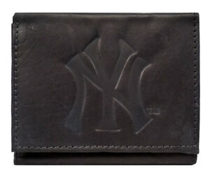 New York Yankees TRIFOLD STANDARD Authentic Embossed Leather Wallet NWT Baseball