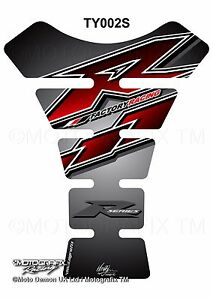 R6 Red Black Motorcycle Tank Pad Motografix 3D Gel Protector Yamaha YZF R1