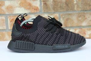 684ba32fe Men s Adidas NMD R1 STLT PK Primeknit Triple Black Pink Boost Size 8 ...