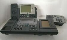 Lot Of 3 Cisco Cp 7975g Voip Ip Business Phone 7914 Module 7941g 7906
