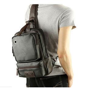 Image Is Loading Men 039 S Black Leather Shoulder Bag Laptop