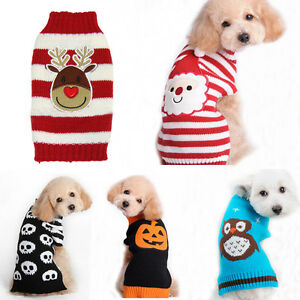 image is loading pet christmas sweater striped dog clothes puppy sweater