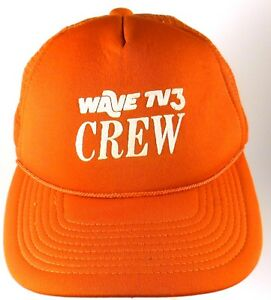 Wave-TV-3-Crew-Louisville-KY-Adjustable-Snapback-Cap-Hat-Red-Television-Station