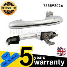 Left Passenger Side Outer Chrome Door Handle 735485876 For Fiat /& Abarth New UK