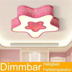 Details zu 24W LED Kinderzimmer Deckenleuchte Kinder Lampe dimmbar mit  Fernbedienung Stern