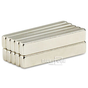 Lot 10pcs Strong N50 Block Bar Cuboid Magnets 30 x 5 x 3mm Rare Earth Neodymium