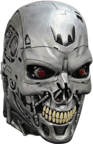 OFFICIAL TERMINATOR DELUXE ENDOSKULL LATEX HEAD MASK