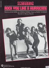 Scorpions sheet music Rock You Like a Hurricane 1984 6 pages (NM shape)