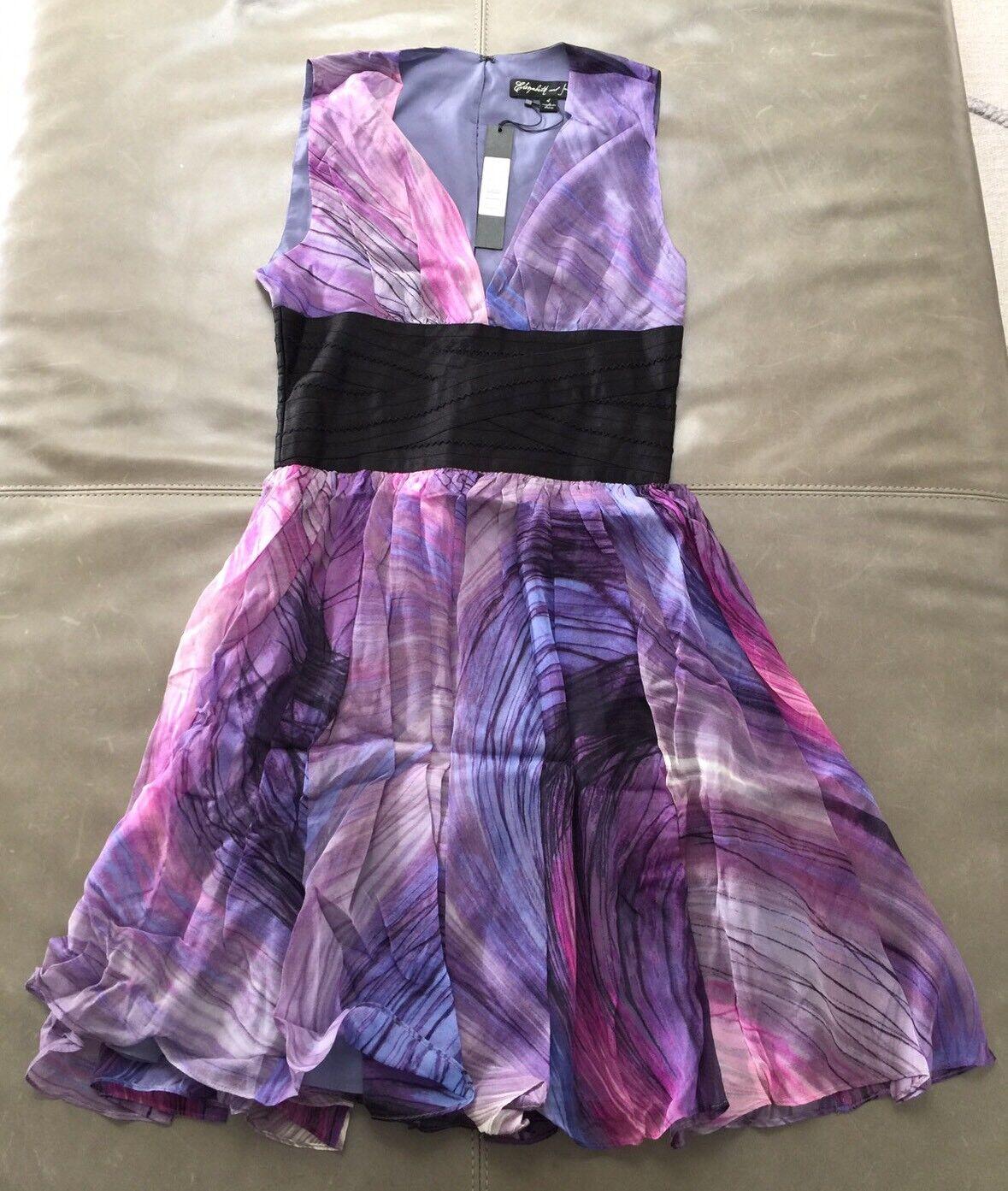NWT Elizabeth & James Jana Dress 100% Lightweight Silk Lined 4