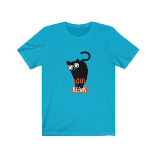 Unisex Short Sleeve Tee,cat love,cool beans,cool cat,black cat,cat mom,cat dad