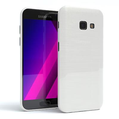 Schutz Hülle für Samsung Galaxy A3 (2017) Brushed Cover Handy Case Weiß