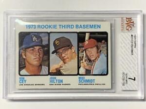 Mike-Schmidt-1973-Topps-Rookie-Baseball-Card-615-HOF-Centered-BVG-7