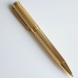 JINHAO-155-GOLD-PLATED-CHISELLED-OFFICE-BALLPOINT-PEN-GT-G2-INK-UK-SOLD