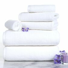 6 pieces white TOWELS set (100% Certified Egyptian Cotton) 2500 GRAM.