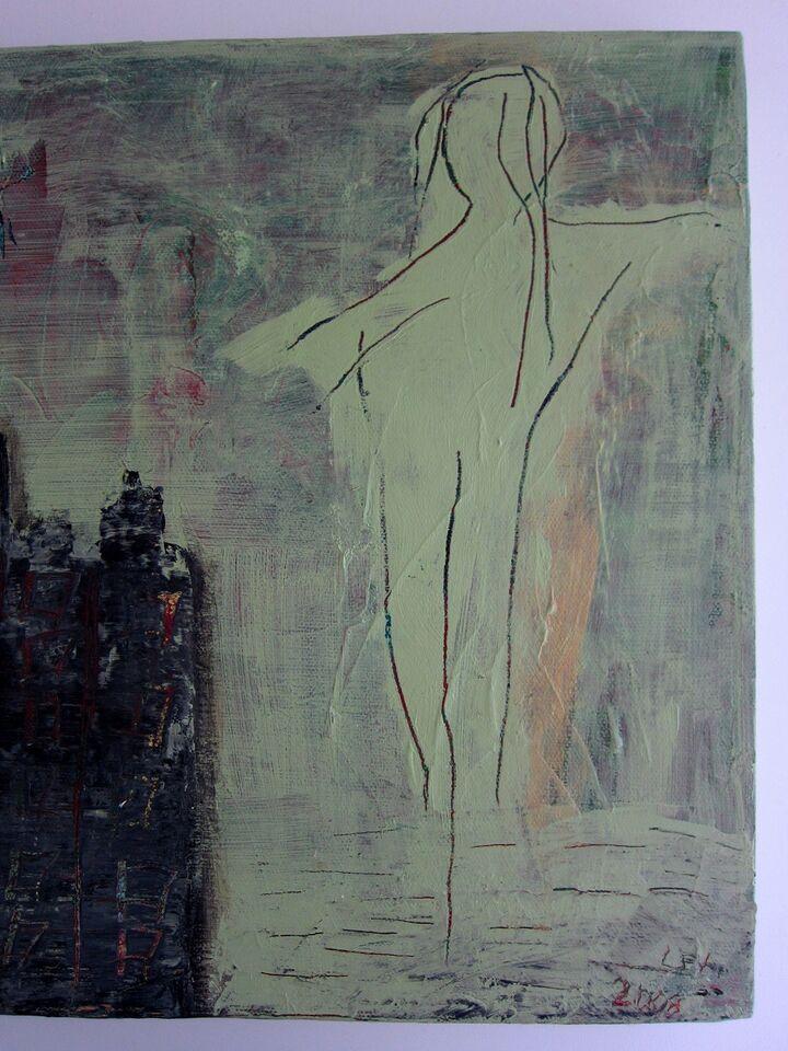 Akrylmaleri, motiv: Abstrakt, stil: Abstrakt