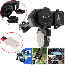 12V Motorcycle Motorbike USB Charger Socket Power Adapter Waterproof For Sat GPS