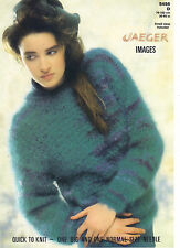Jaeger le immagini Knitting Pattern Irlandese Moss Stitch Maglione 5456d