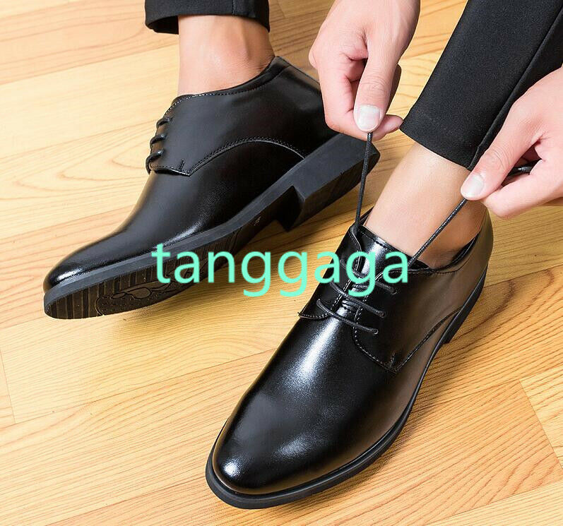 Mens Dress Formal Dress shoes Pointed Toe Height increase Business Lace up Shoie