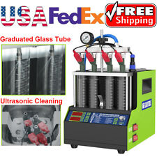 New Upgrade Ultrasonic Fuel Injector Tester Cleaner Machine For Car Motorcycle