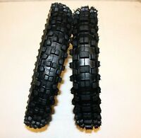 Knobby 60/100- 14 Front Tyre + 80/100- 12 Rear Tire With Tubes Dirt Bike Pit