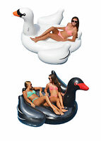 Swimline Giant Inflatable Ride-on 75 Swan Floats, Black + White   90621 90628 on sale
