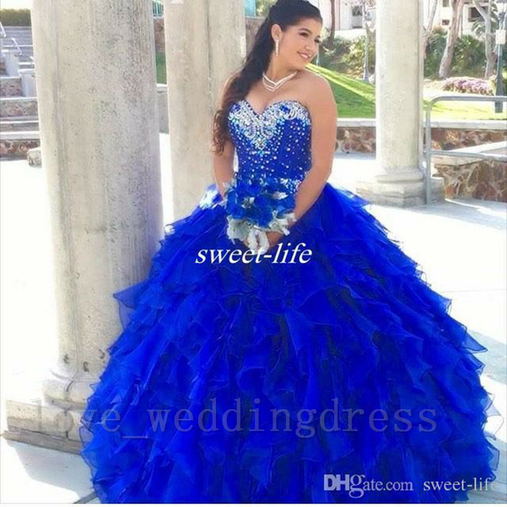 Crystal Sweet Sweet Sweet 16 Quinceanera Dress Formal Long Sweetheart Evening Prom Ball Gown 440be8
