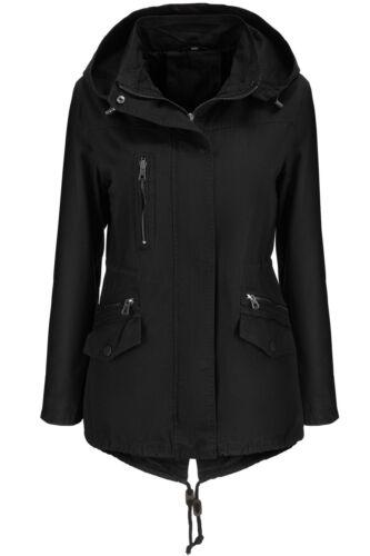 Veste Coat Coton L 100 Femme Trench Transitionnelle Veste Hood arSwqza