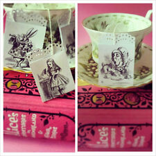 6 Mad Hatters Tea Party Tea Bag Wedding Favours Birthday party Table Settings