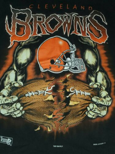 VTG NFL Cleveland Browns All Over Print Magic John