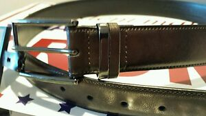 Donald-J-Trump-Size-34-Signature-Collection-Synthetic-Leather-Brown-Belt-NEW