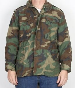 M65-US-Army-Field-Jacket-Small-Short-36-034-38-034-Camouflage-Camo-8AG