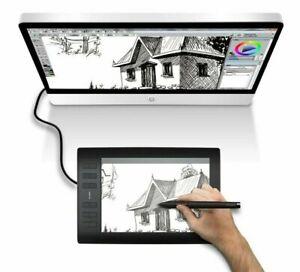 Digital-Drawing-Tablet-8192-Levels-Pen-Pressure-12-Key-Blend-Materials-Graphic