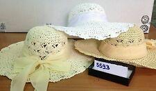cappello  bianco elegante cerimonia taglia unica paglia hat cocktail donna