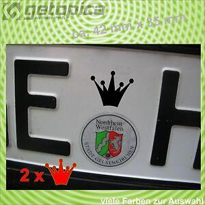 2 Deutschland Bike Auto Nummerschild Kennzeichen  Aufkleber über Autohauswerbung