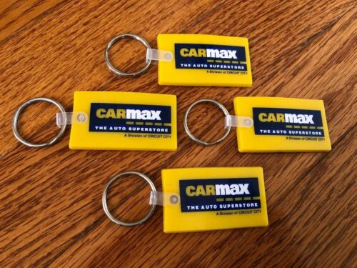 Circuit City BRAND NEW! Set of FOUR Vintage CARMAX Auto Superstore key chains