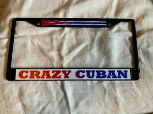 Cuba Flag Metal License Plate
