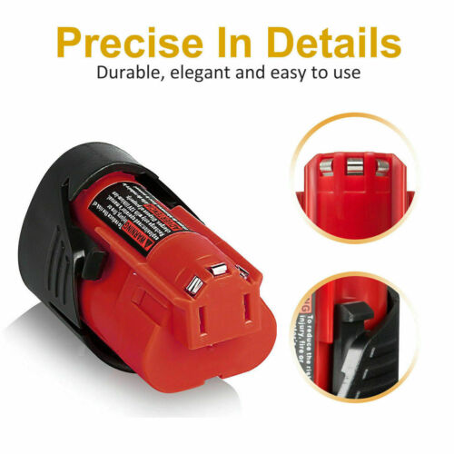 2X NEW For Milwaukee M12 12V XC 3.5AH LITHIUM Battery Pack 48-11-2420 48-11-2411